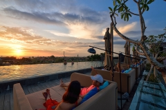 Sunset at Sky Pool